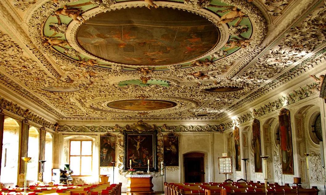 Sommerrefektorium von Kloster und Schloss Salem; Foto: Staatliche Schlösser und Gärten Baden-Württemberg, Hermann Böhne
