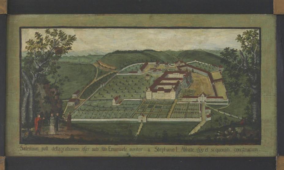 Historische Abbildung, Gesamtanlage von Kloster und Schloss Salem; Foto: Staatliche Schlösser und Gärten Baden-Württemberg, Günther Beck