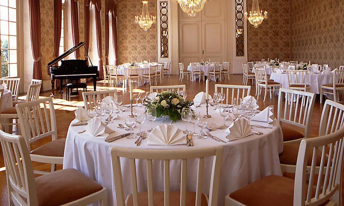 Kammermusiksaal im nördlichen Zirkelbau von Schloss Schwetzingen; Foto: Staatliche Schlösser und Gärten Baden-Württemberg, Arnim Weischer